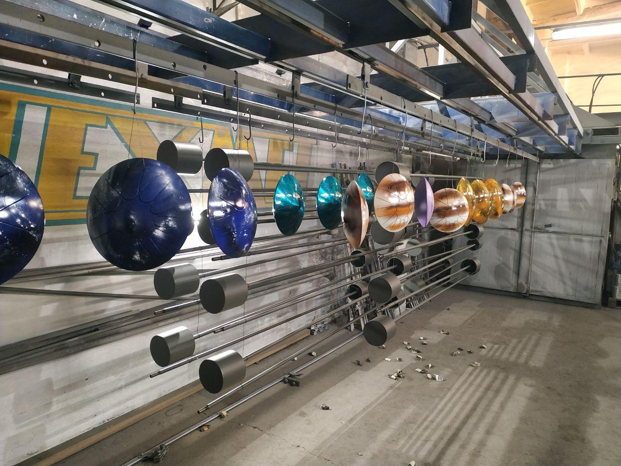 дизайнерская порошковая полимерная покраска изделий из металла глянец мат муар