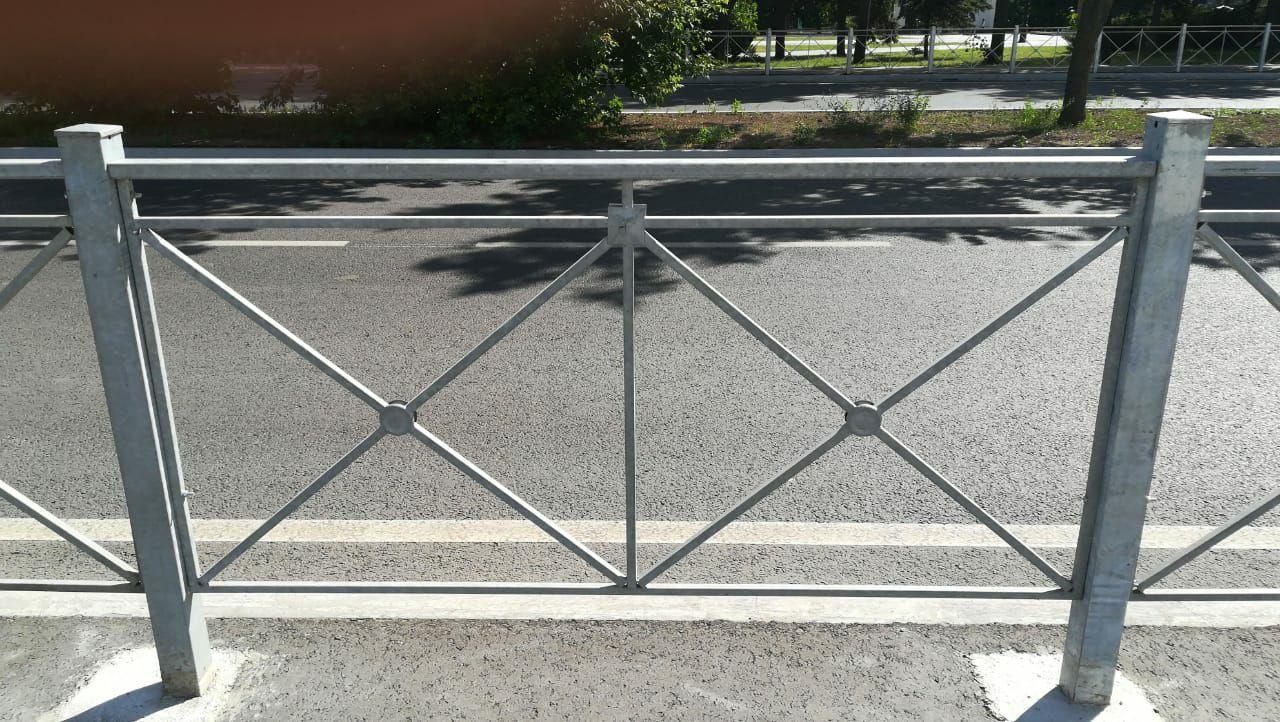 пешеходное перильное ограждение автомобильных дорог крест ПО-8