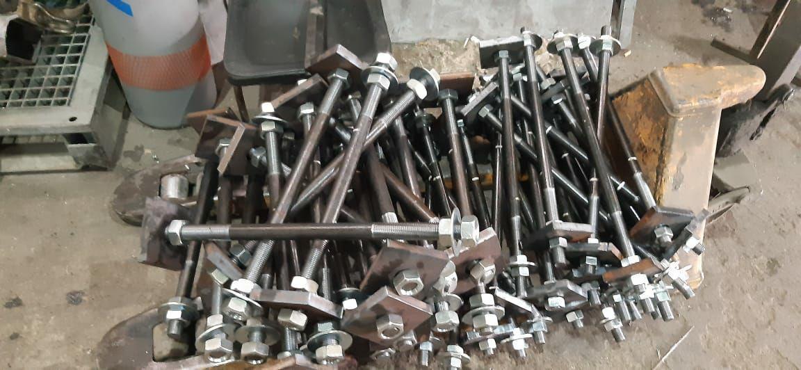 фудаментные болты анкерные нарезание резьбы м12 м14 м16 м18 м20 м22 м24 м30 м36 м48 исполнение 1 2.1 3 4 5