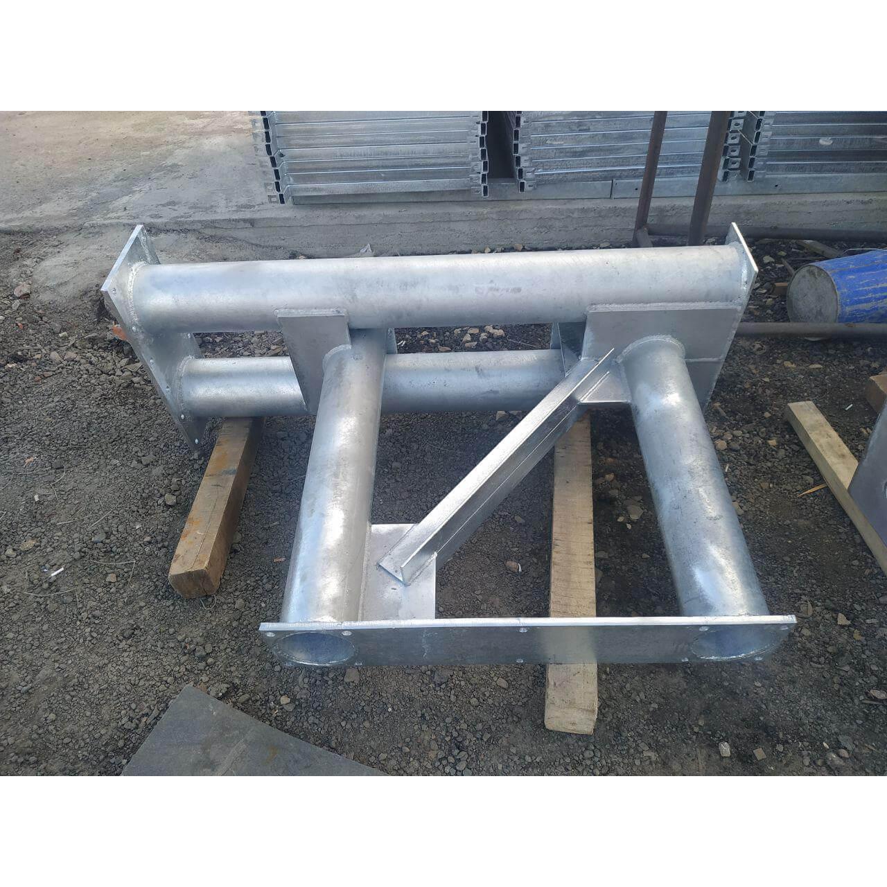 опора РМГ для дорожных знаков ригель металлический г-образный оцинкованный соединение болтовое