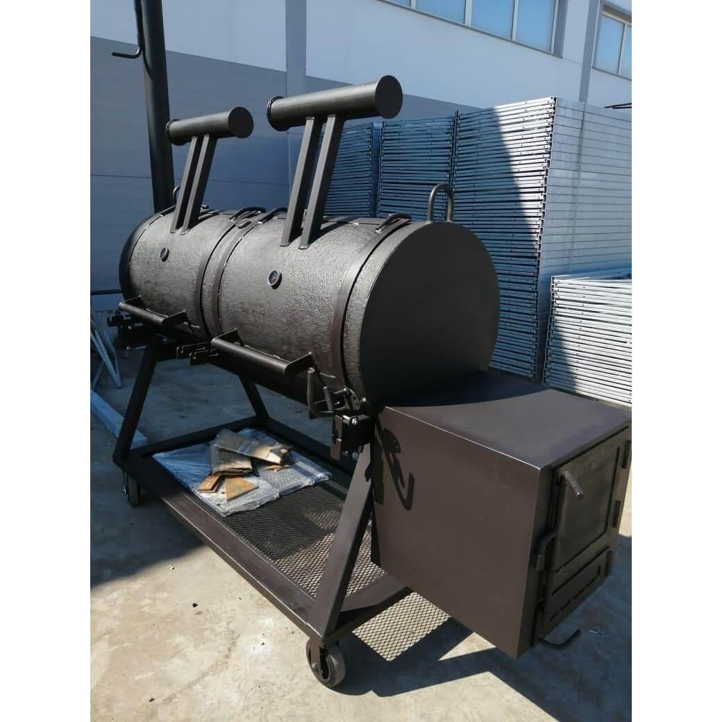 смокер гриль smoker термостойкая краска 1800 мм 500 4 5 6 8 10 мм толщины с датчиками температуры ресторан