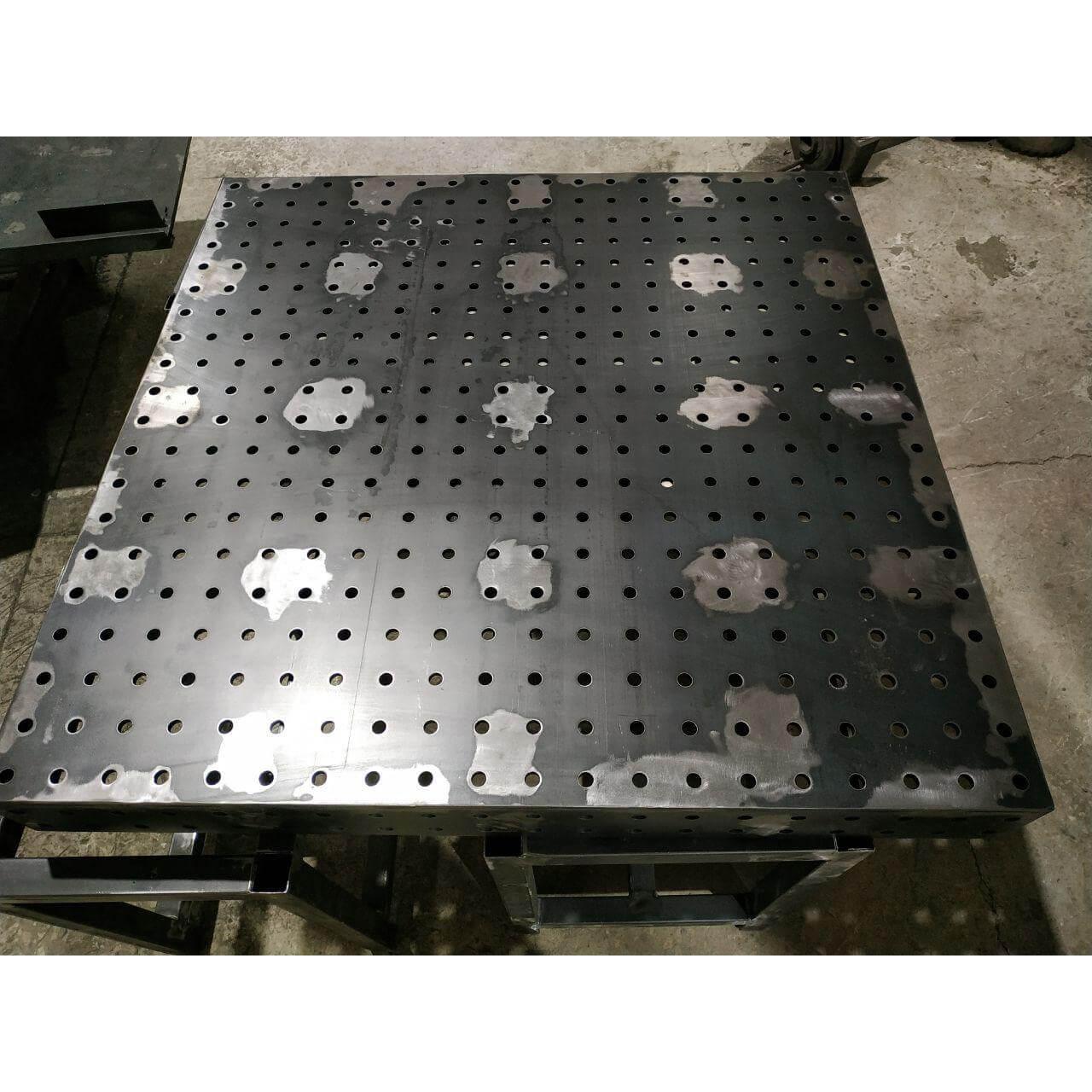 стол сварочный сборочный с отверстиями 16 мм толщиной 6 8 10 12