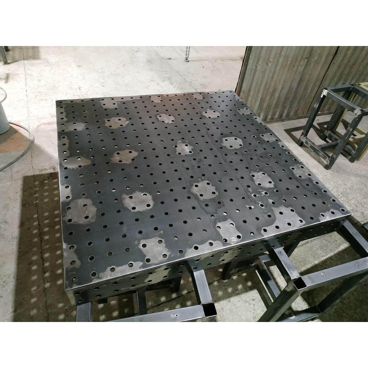 стол сварочный сборочный толщиной 6 8 10 12 мм с отверстиями 10 12 16 28 4